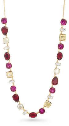 Catherine Malandrino Women Red Rhinestone Tone Chain Necklace