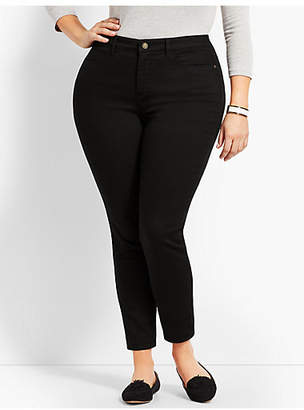 Talbots Plus Size Exclusive Comfort Stretch Denim Jeggings - Curvy Fit/Black