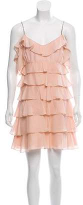 Rachel Zoe Tiered Silk Dress