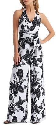 Women's Eci Print Halter Jumpsuit $98 thestylecure.com