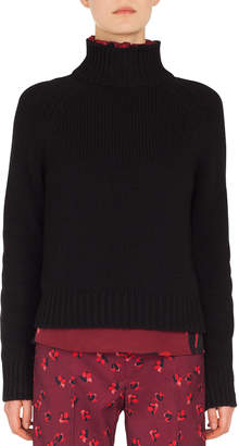 Akris Punto Turtleneck Long-Sleeve Cashmere-Blend Knit Sweater