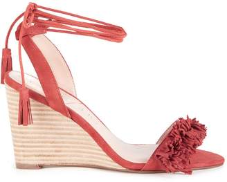 Rosea Fringe Lace Up Wedge $89.95 thestylecure.com