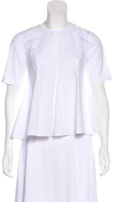 Opening Ceremony Short Sleeve Pleated Top