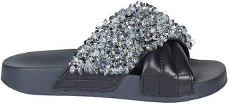 Tory Burch Crystal Embellished Sliders