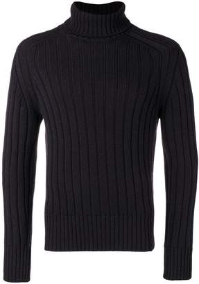 Cruciani rib knit turtleneck sweater
