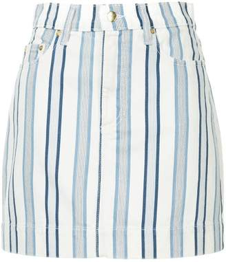 Nobody Denim Piper striped mini skirt