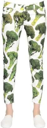 Sangue Broccoli Printed Cotton Denim Jeans