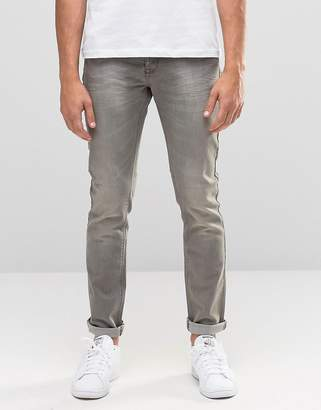 Benetton Gray Wash Jeans in Skinny Fit