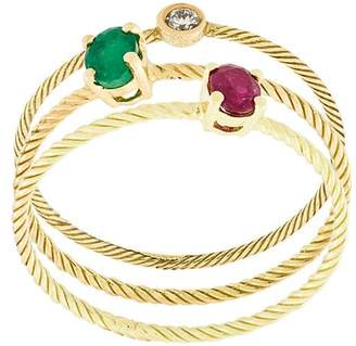 Wouters & Hendrix Gold stone embellished set of rings