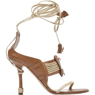 Christian Dior Brown Leather Sandals