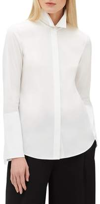 Lafayette 148 New York Cynthia Cotton Blend Blouse
