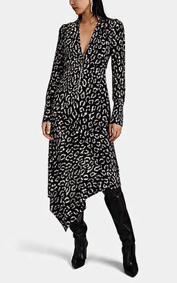 A.L.C. Women's Eden Leopard-Print Silk Dress - Black