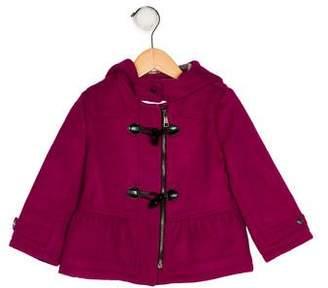 Burberry Girls' Hooded Wool Jacket