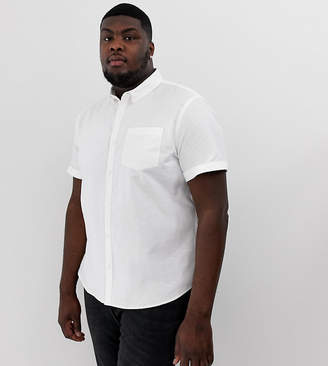 New Look Plus regular fit oxford shirt in white