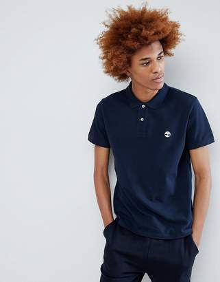 Timberland Tree Logo Pique Polo in Navy