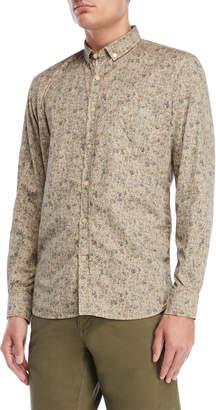 Serge Blanco Mastic Floral Button-Down Shirt