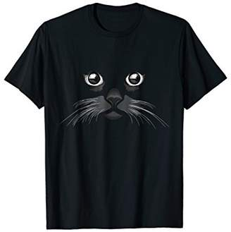 Cattitude funny cats face t-shirt for men and women