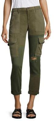 Hudson Riley Distressed Cropped Utility Cargo Pants