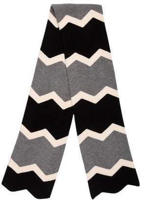 Tory Burch Knit Chevron Scarf