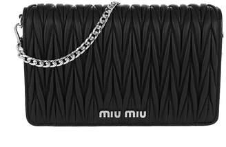 Miu Miu Borsa Portafoglio Matelasse Crossbody Leather Black feecd59a5fa51
