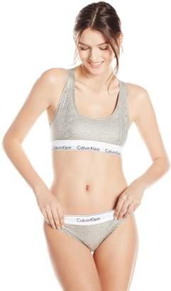 Calvin Klein Women's Modern Cotton Bralette and Bikini Set, Grey Heather