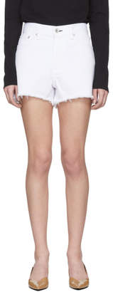 Rag & Bone White Denim Justine Shorts