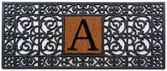 One Kings Lane Monogram Doormat - Black