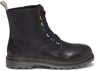 WiNK 'Cookie' leather kids combat boots