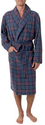 Fruit of the Loom Men's Flannel Shawl Collar Robe