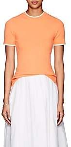 JoosTricot Women's Tipped Fine-Gauge Knit Top-Orange