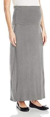 Three Seasons Maternity Women's Maternity Solid Long Maxi Skirt,XL