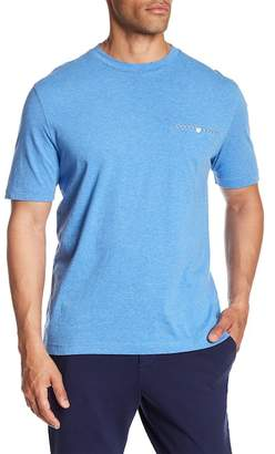 Thomas Dean Welt Pocket Crew Neck Tee