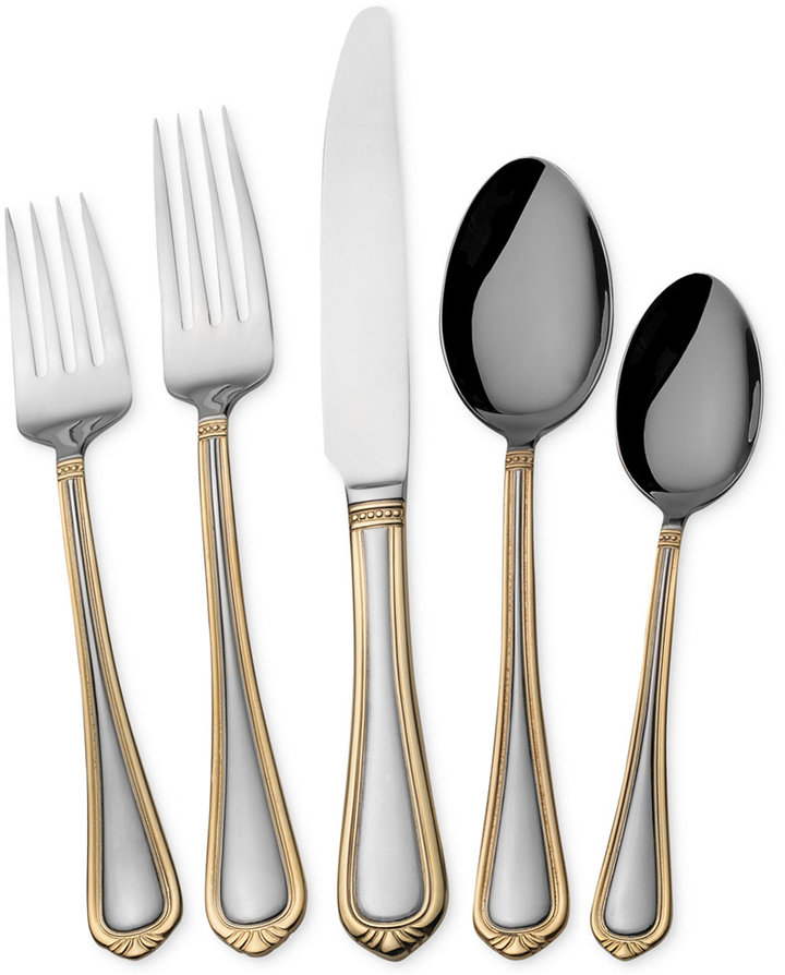 ING Towle Living Flatware 18/0, Vienna 45 Pc Set, Service for 8