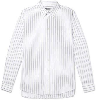 Balenciaga Oversized Striped Cotton-Poplin Shirt