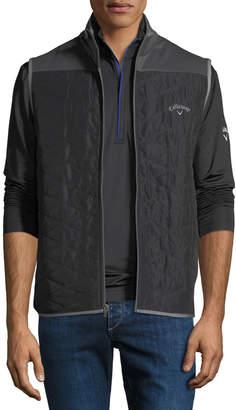 Callaway Men's Quilted Stand-Collar Zip Vest