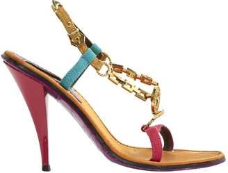 Louis Vuitton Multicolour Cloth Sandals