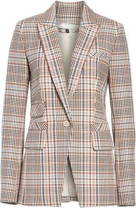 Veronica Beard Fuller Houndstooth Dickey Jacket