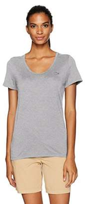 Lacoste Women's Short Sleeve Solid Scoop Neck Jersey Tee