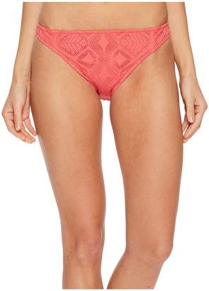 Polo Ralph Lauren Bordeaux Mixed Crochet Engineered Taylor Hipster Bottom Women's Swimwear