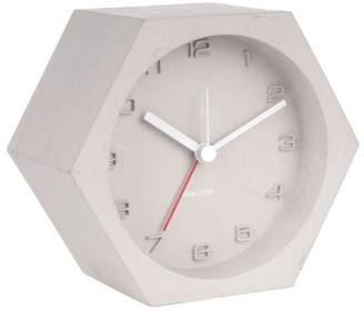 Karlsson Grey Concrete Alarm Clock