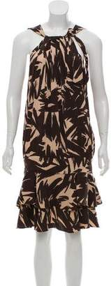 Diane von Furstenberg Printed Silk Midi Dress