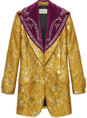 Gucci Brocade evening jacket with detachable lapel