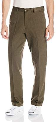 Haggar Men's Heathered Corduroy Hidden Expandable Waist Classic Fit Front Pant