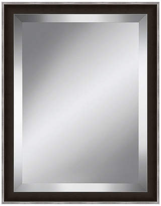 Asstd National Brand Dark Brown and Silver Beveled Plate Mirror
