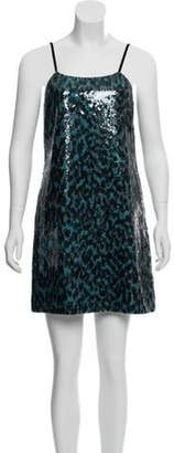 Marc Jacobs Sequined Animal Print Dress w/ Tags Teal Sequined Animal Print Dress w/ Tags