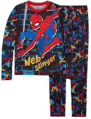 Spiderman Round Neck Long Sleeve Thermal Set Boys