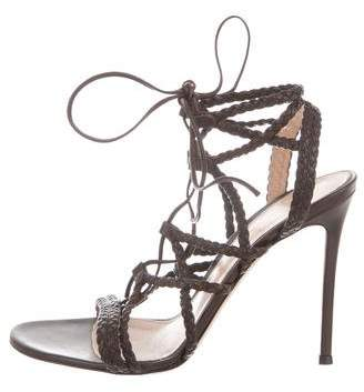 Gianvito Rossi Braided Lace-Up Sandals