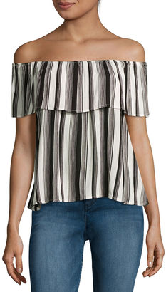 Fire Off-the-Shoulder Crepe Top - Juniors $50 thestylecure.com