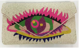 Ricki Designs One Sided Beaded Multi Color Clutch