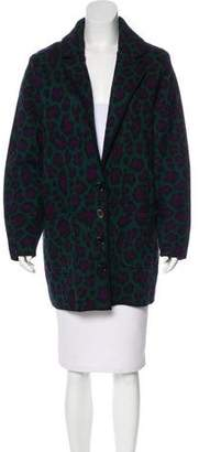 Torn By Ronny Kobo Wool Leopard Printed Jacket